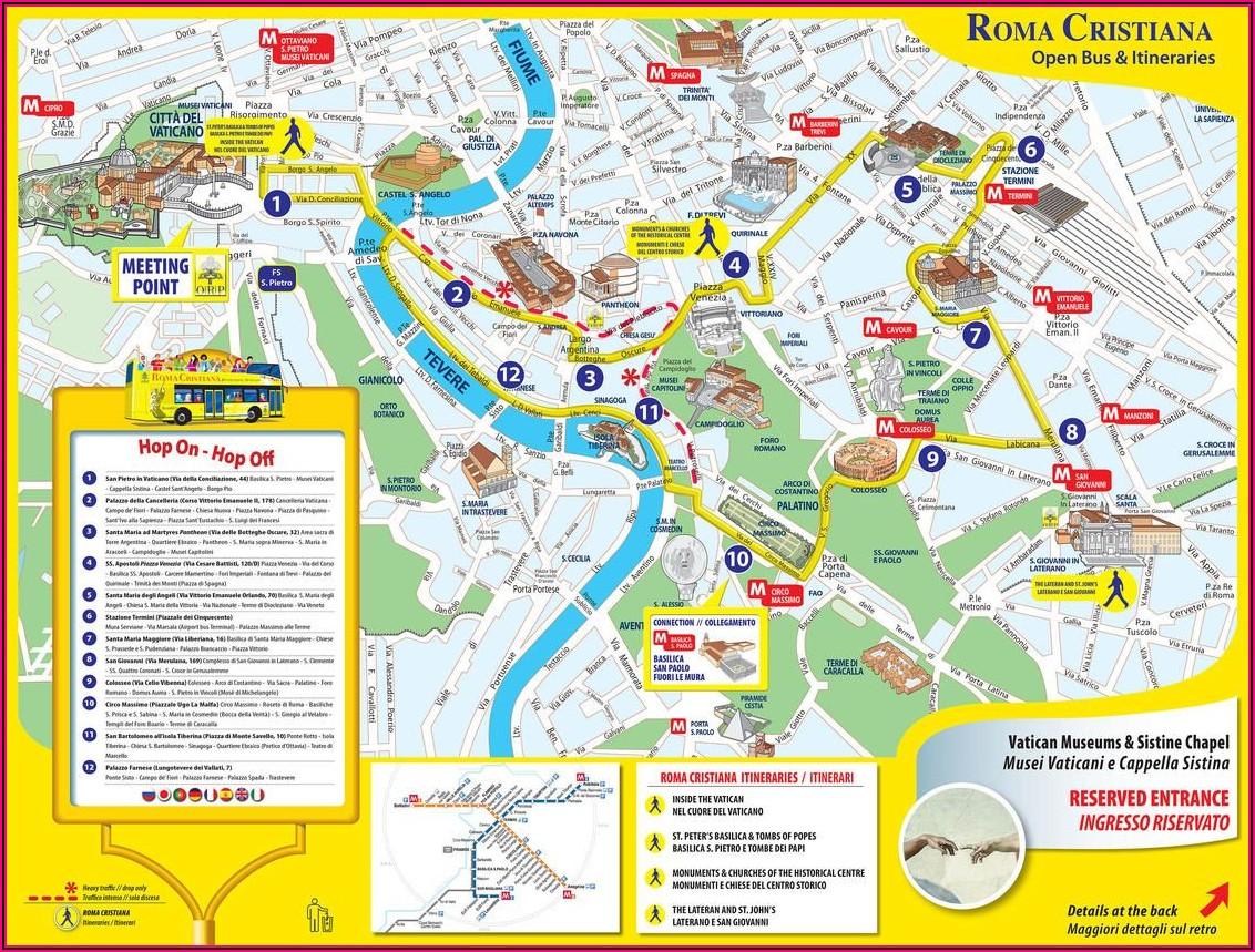 Hop On Hop Off Bus Rome Map