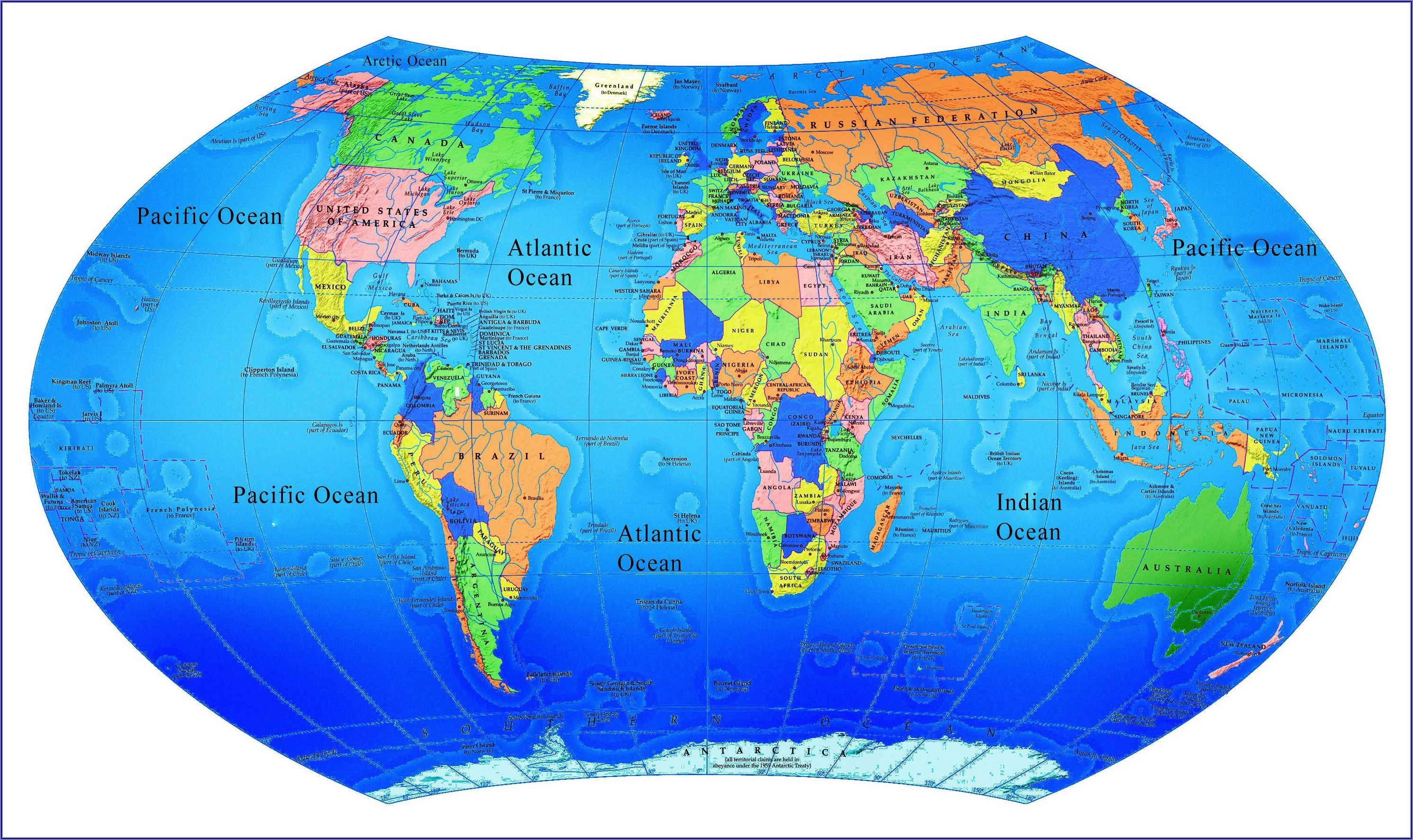 Interactive World Map With Countries