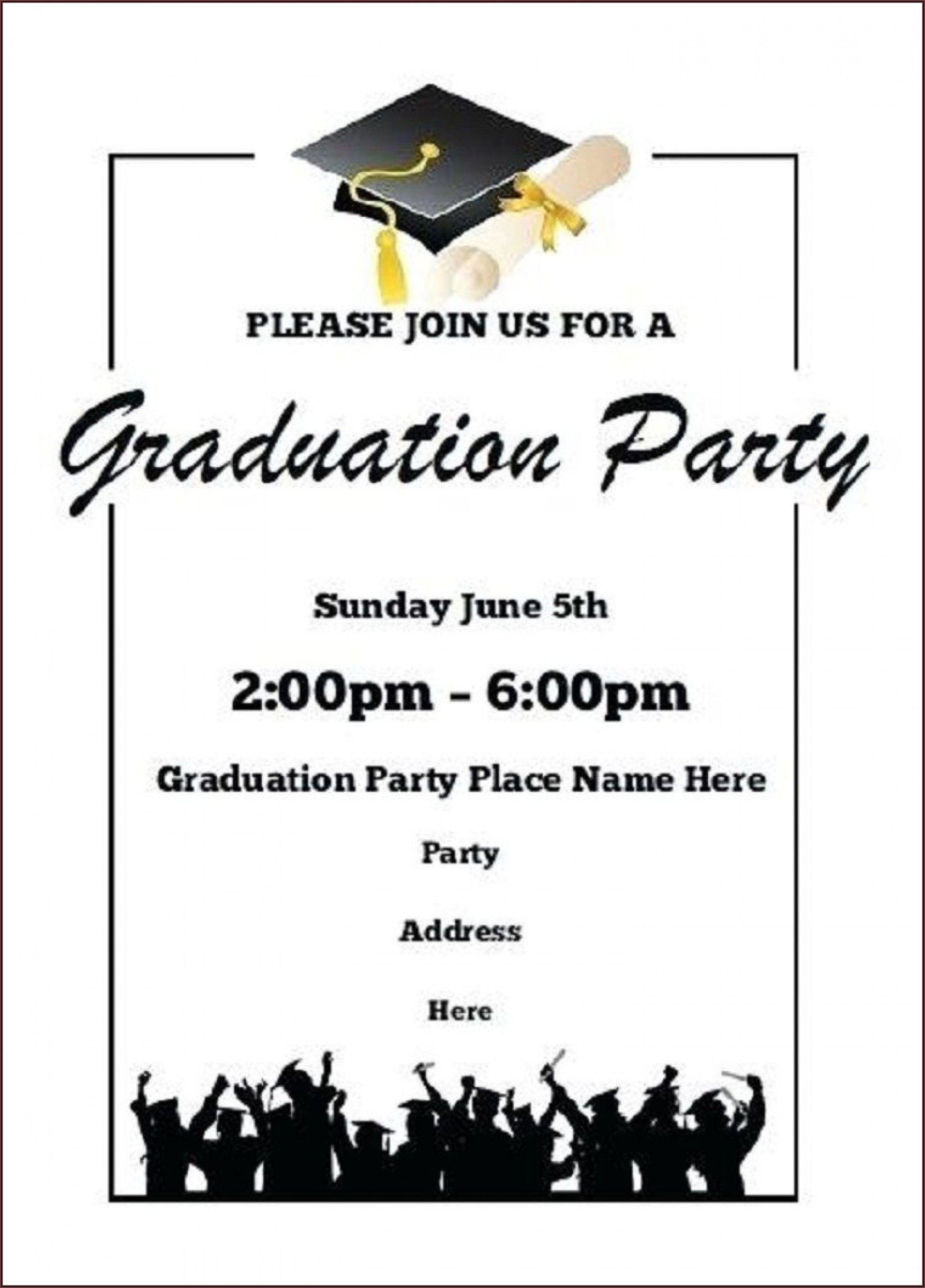 Invitation Card Formal Graduation
