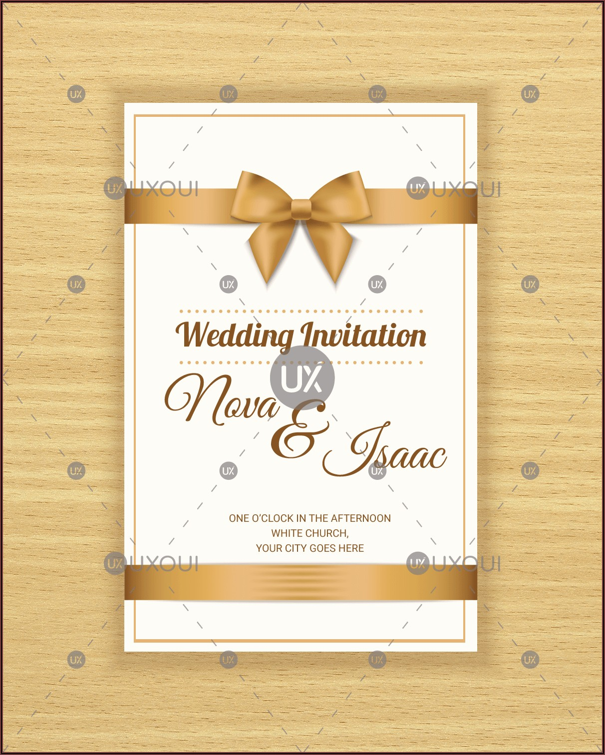 Invitation Card Format Png
