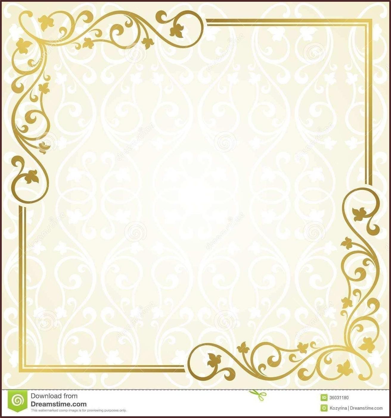 Invitation Card Template Blank