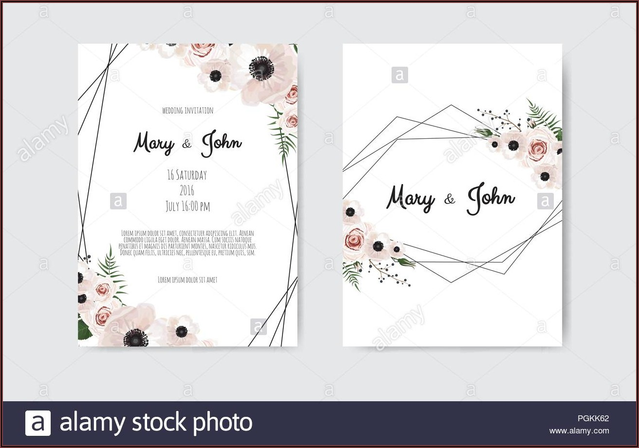 Invitation Card Template Design