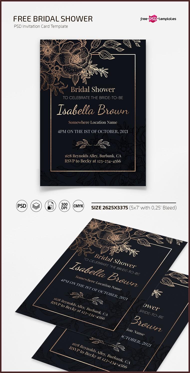 Invitation Card Template Free Psd