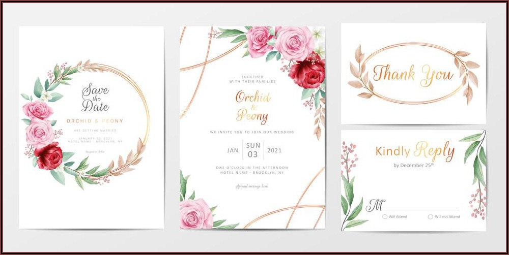 Invitation Cards Template Free