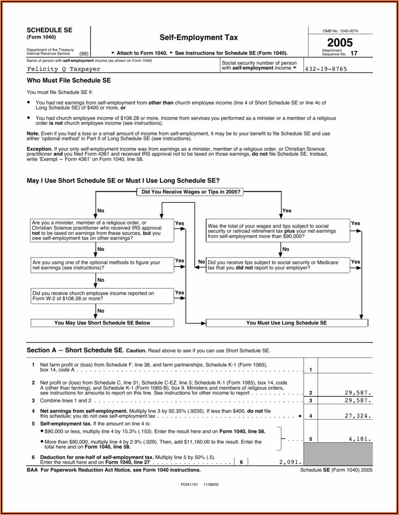 Irs Forms 2013 Schedule Se
