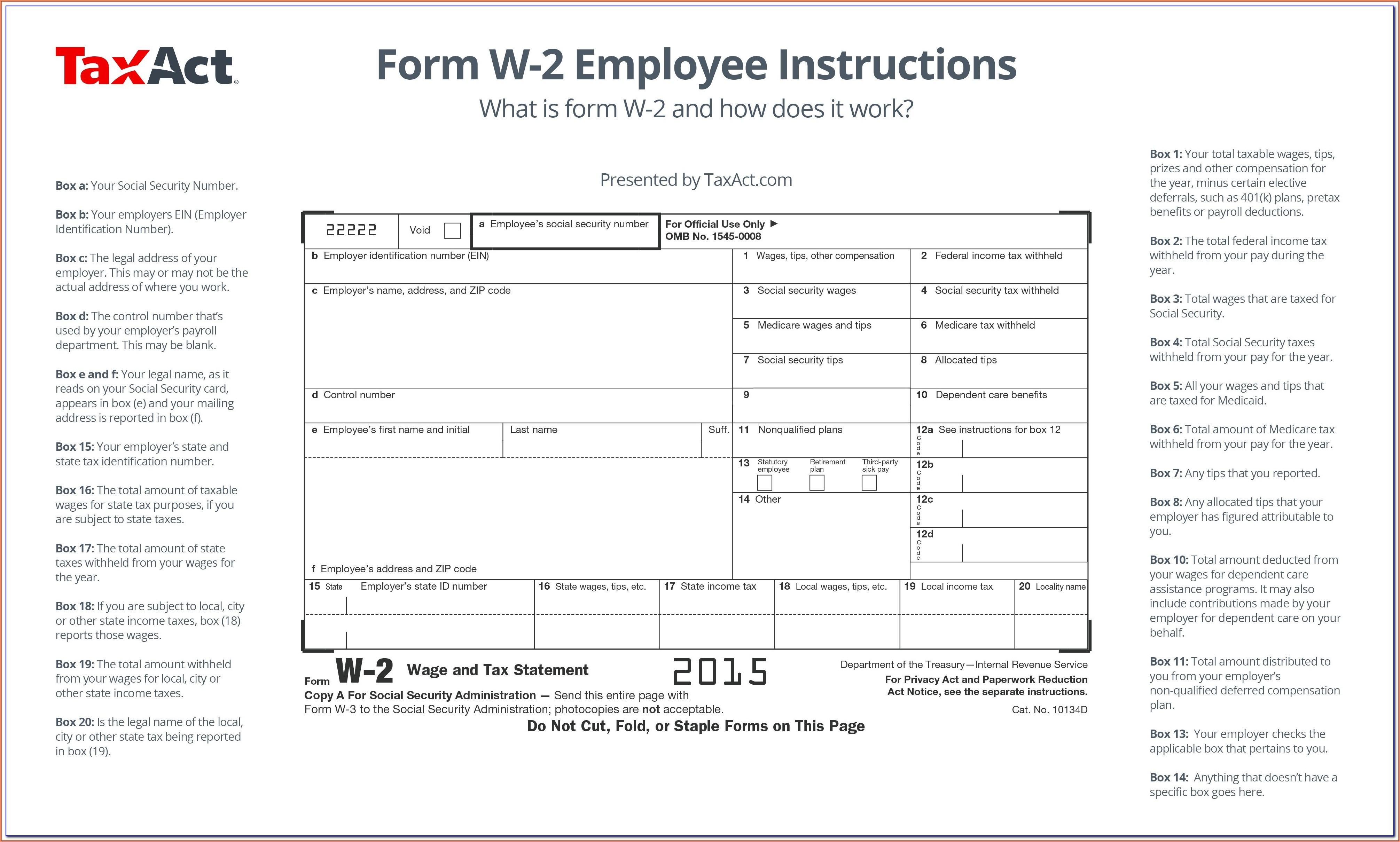 Irs W2 Form 2014
