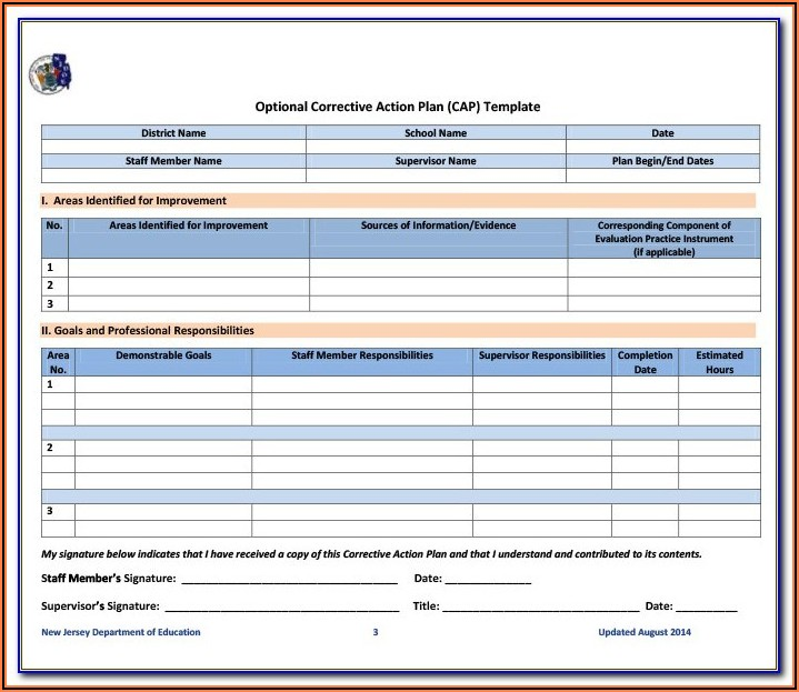 Iso 9001 Corrective Action Form