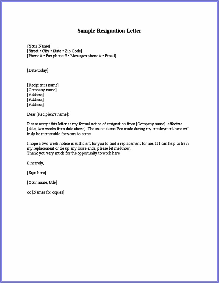 Job Letter Template Free