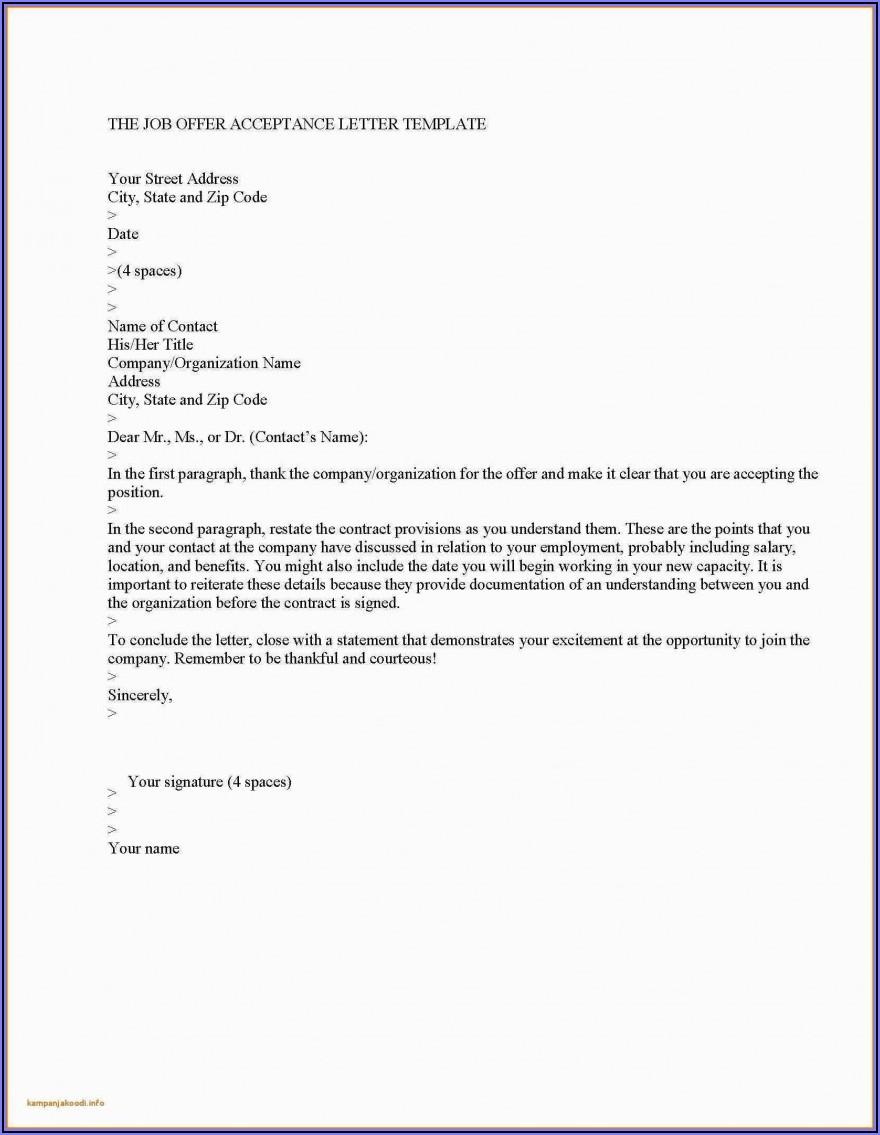Job Offer Letter Uk Template Free