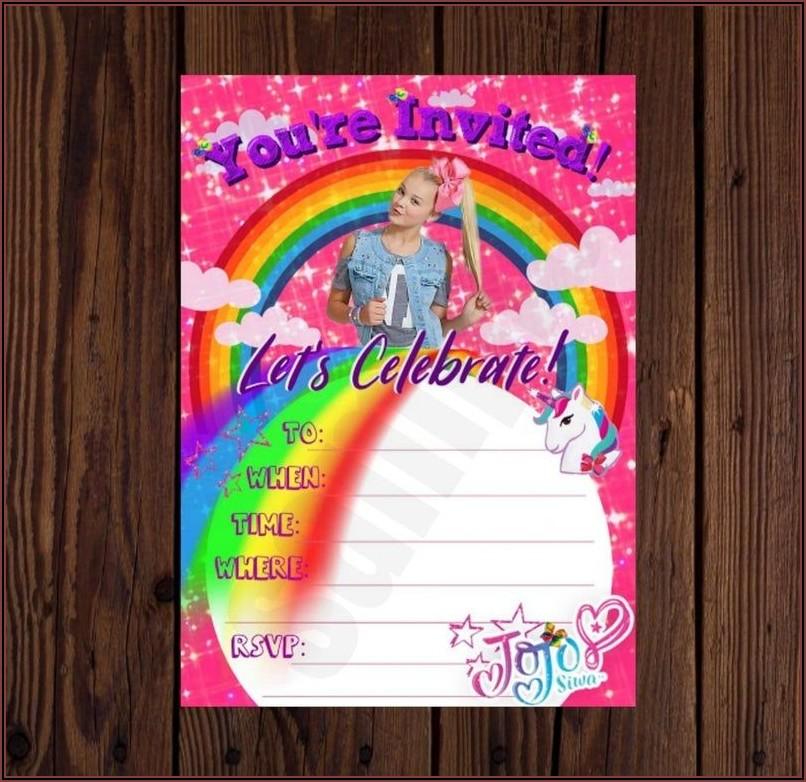 Jojo Siwa Birthday Invitations Etsy