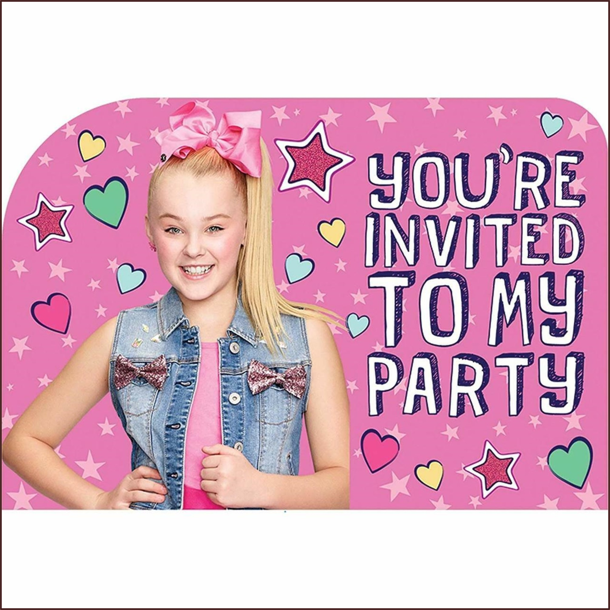 Jojo Siwa Birthday Invitations Walmart