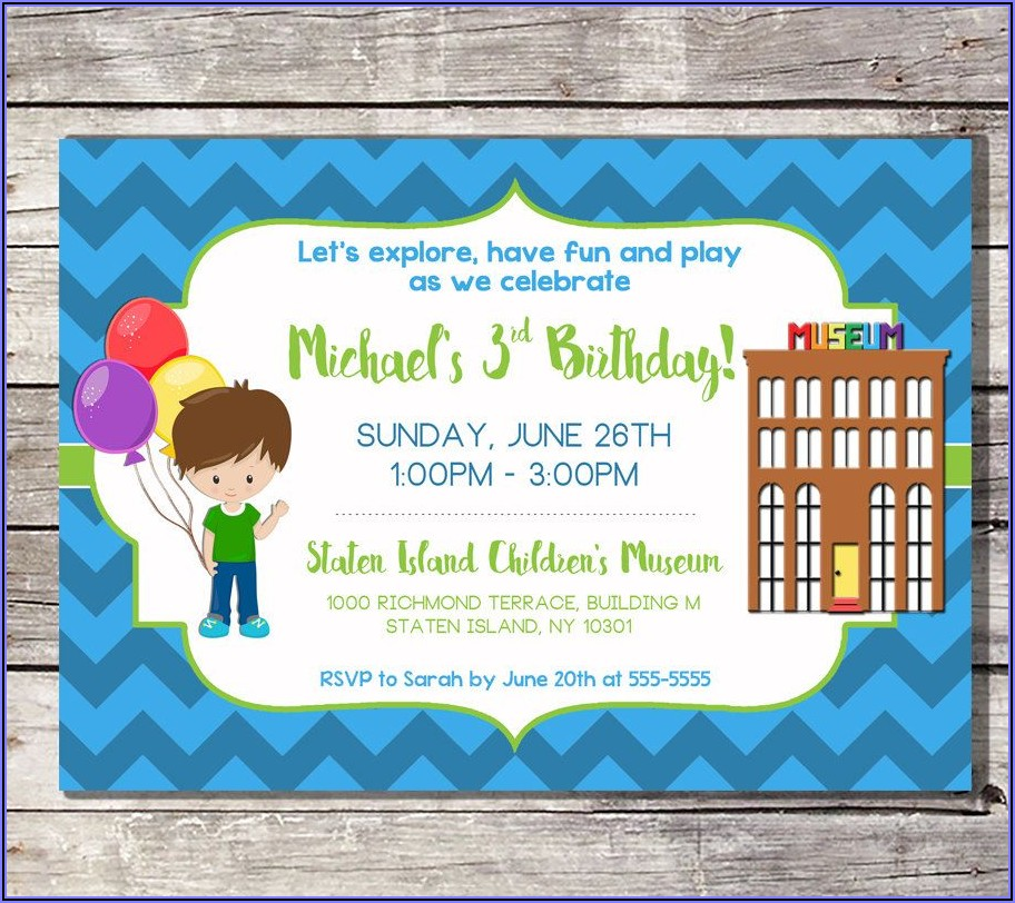 Kid Birthday Invitations Printable