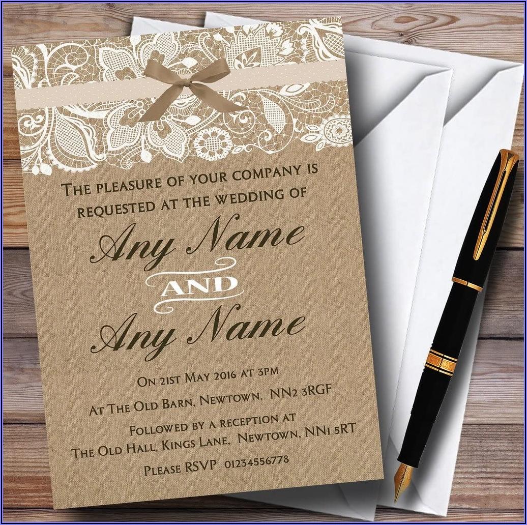 Lace Wedding Invitations Uk