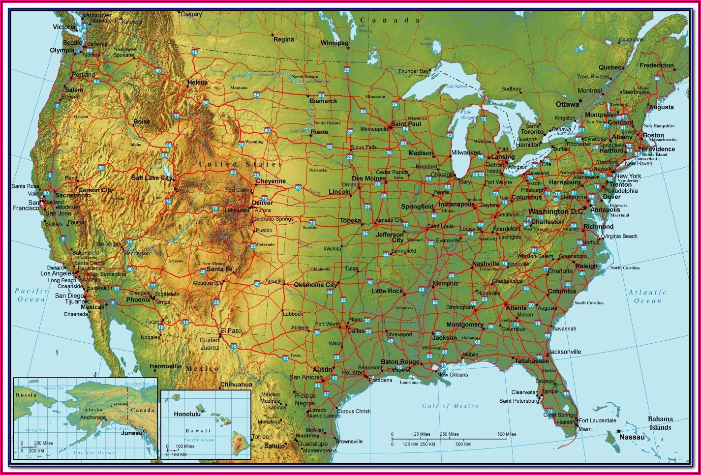 Lake Erie Bottom Contour Map