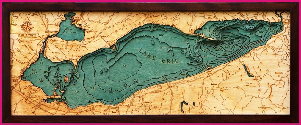 Lake Erie Contour Map