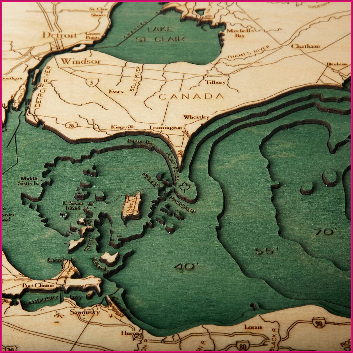 Lake Erie Topographic Map