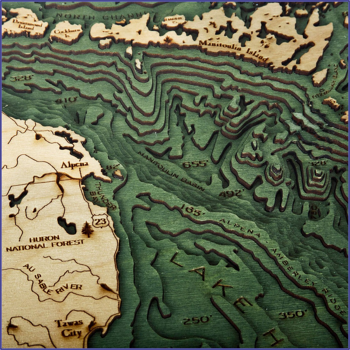 Lake Huron Topographic Map