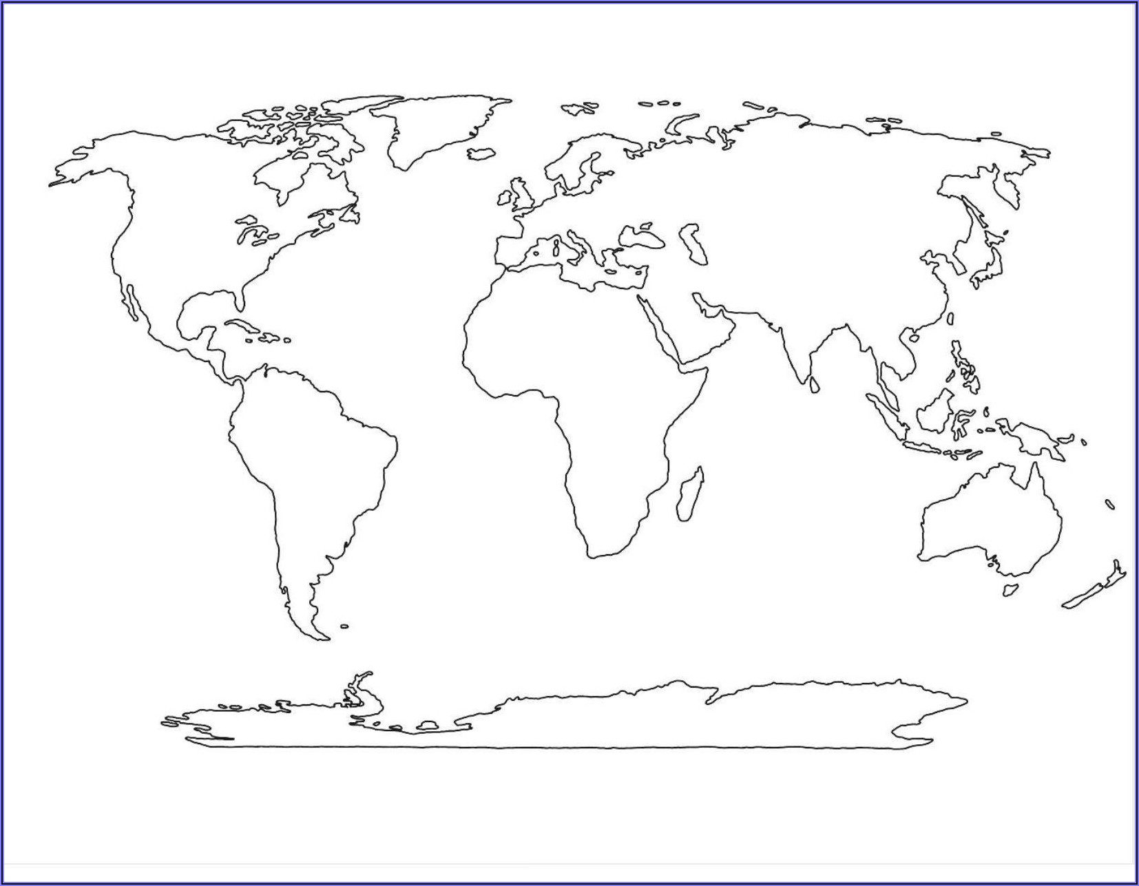 Large Blank World Map Printable