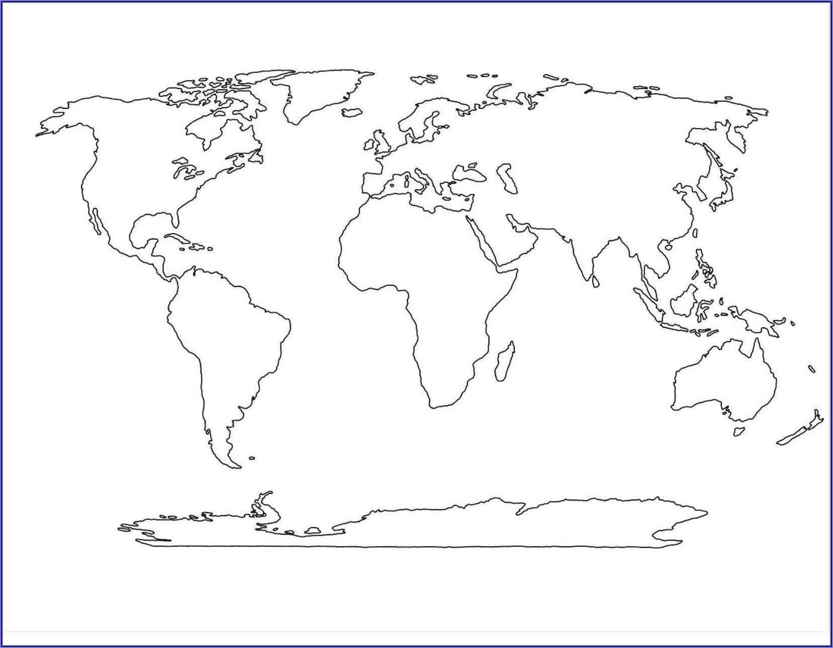 Large Blank World Map Printable