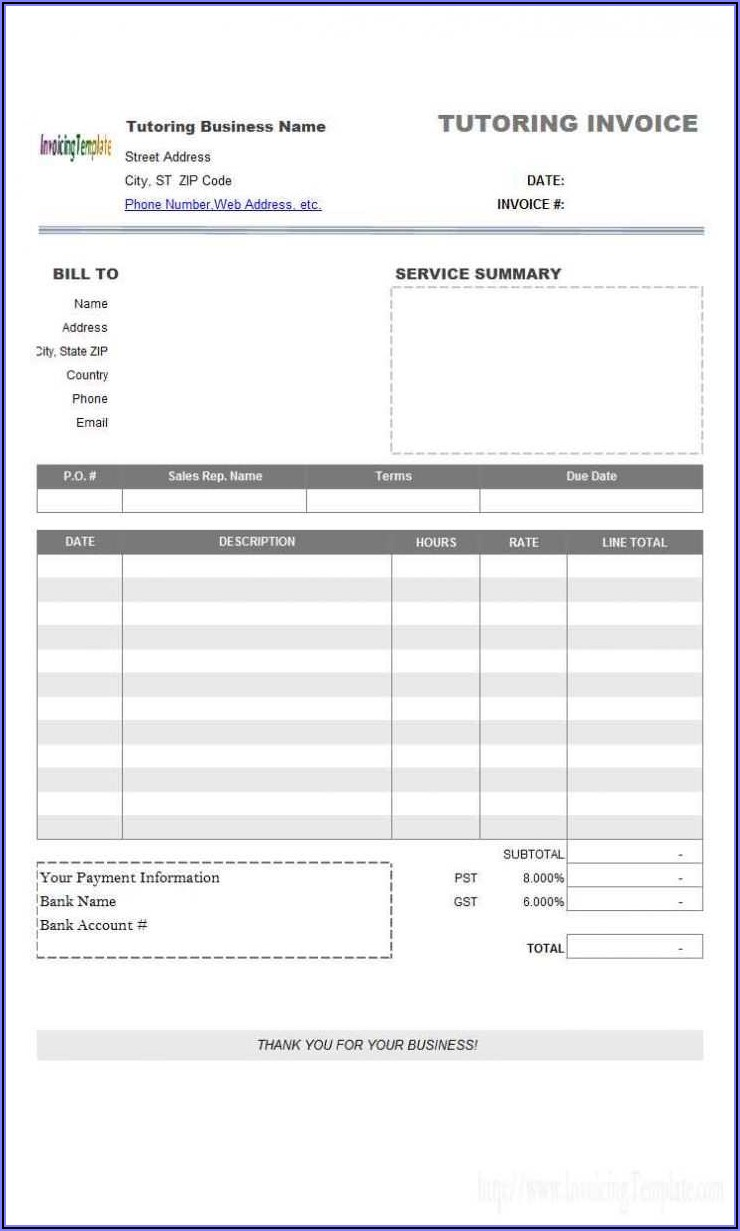 Lawn Mower Invoice Template