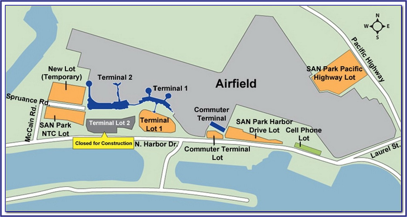 Lax Long Term Parking Lot Map