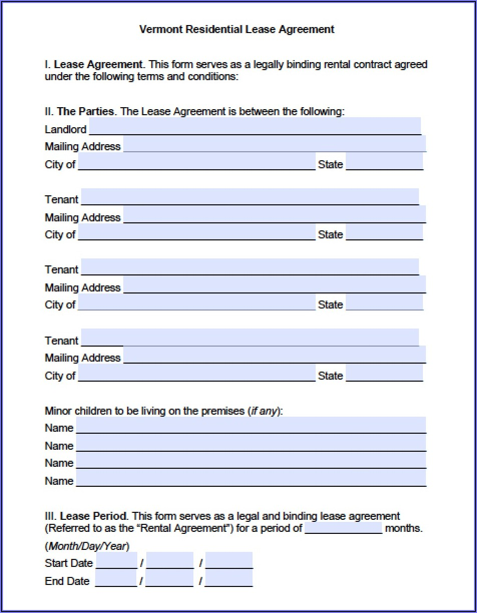 Lease Agreement Template Free Word