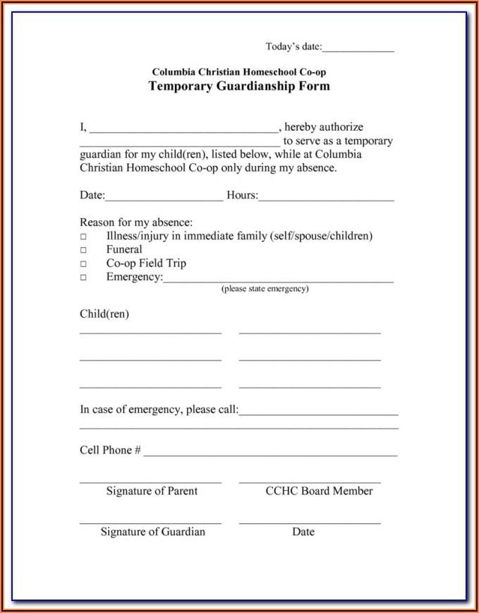 Legal Guardianship Forms Pdf Florida