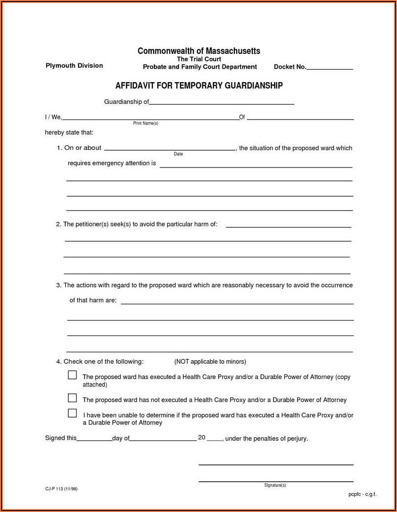 Legal Guardianship Paperwork California