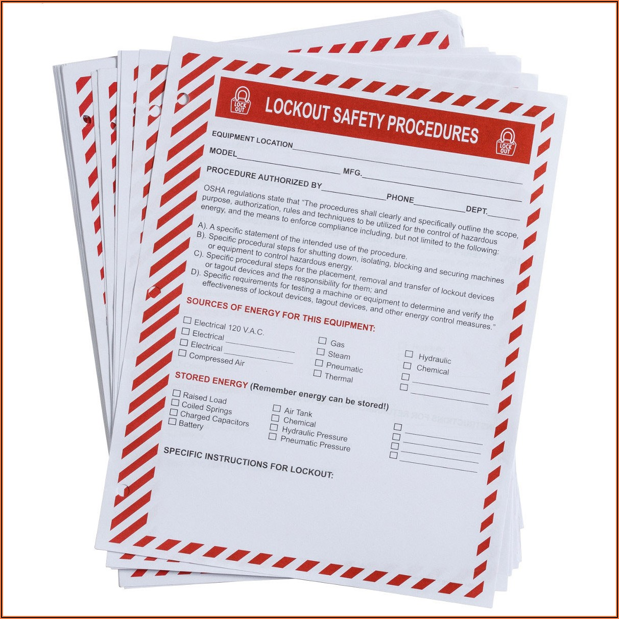 Lockout Tagout Training Form