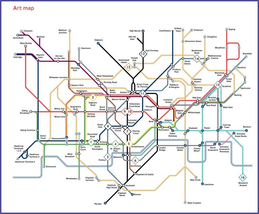 London Tube Map Artists
