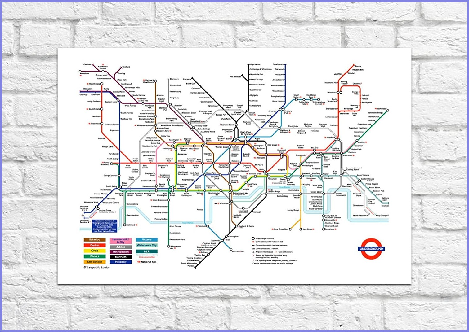 London Underground Tube Map Art