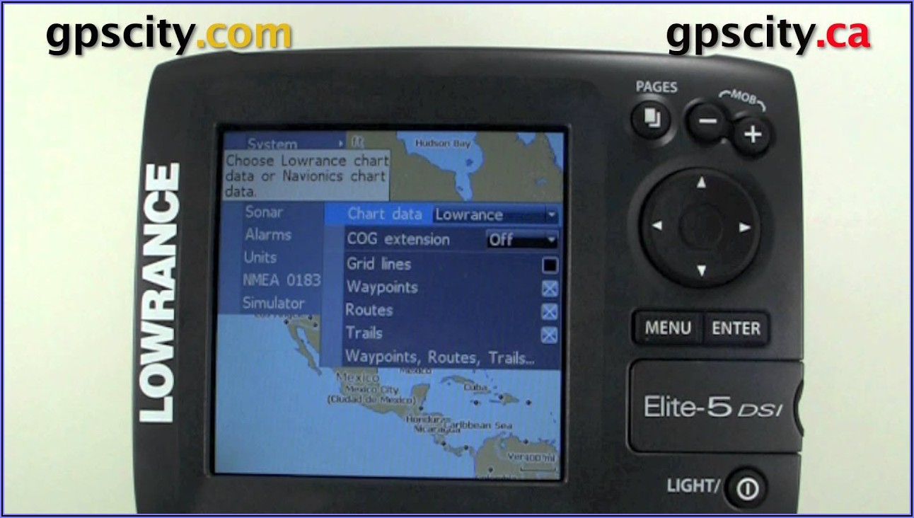 Lowrance Elite 5 Chirp Maps