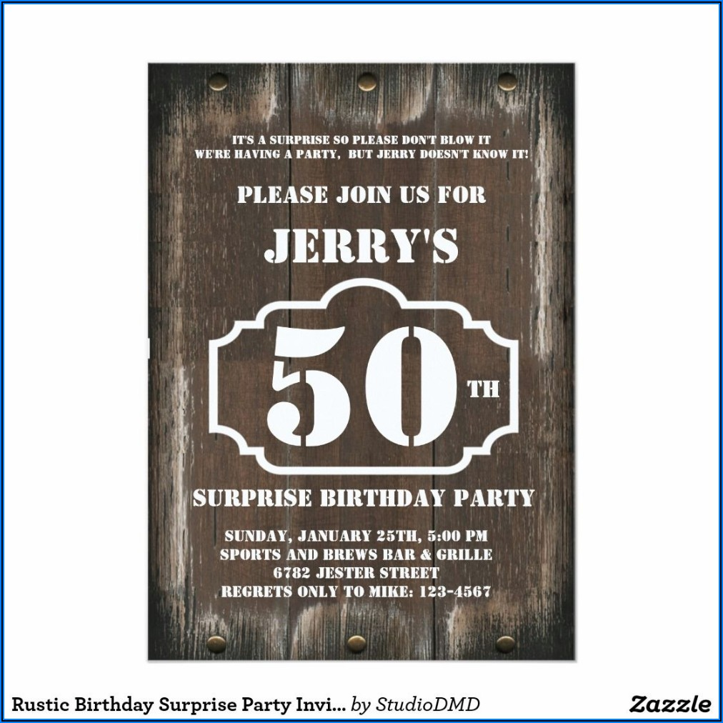 Male 60th Surprise Birthday Invitations