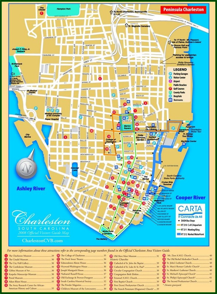 Map Charleston Sc Historic District