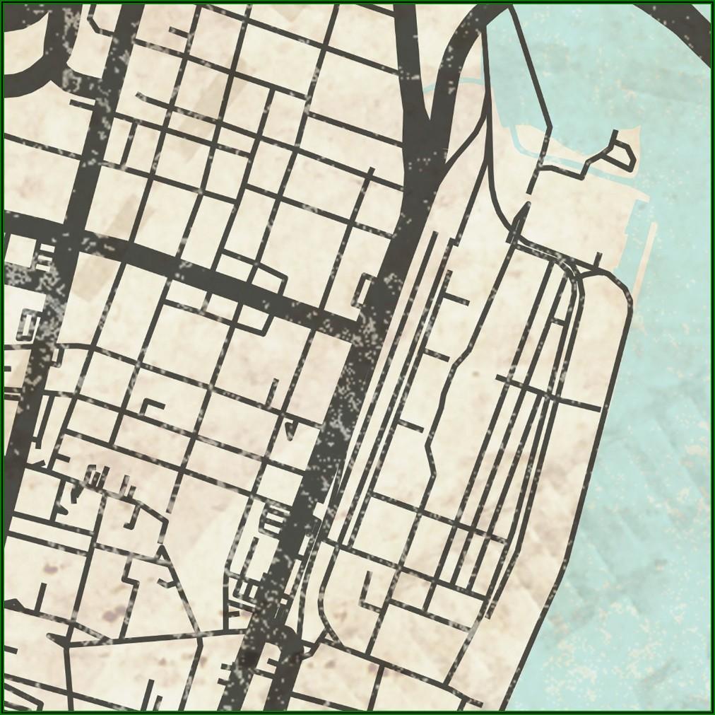 Map Downtown Charleston Sc