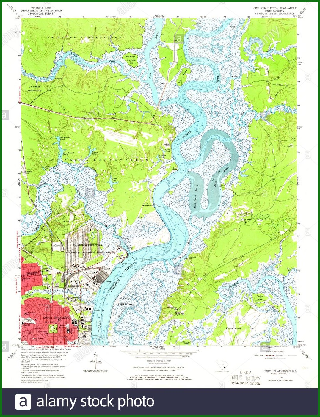 Map North Charleston Sc