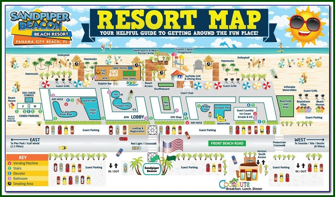 Map Of Accommodation In Waikiki Beach