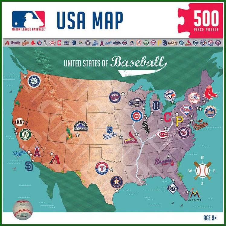 Map Of All 30 Baseball Stadiums