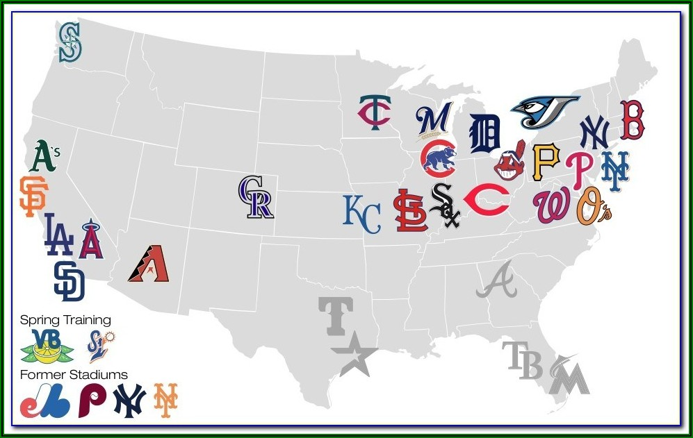 Map Of All Minor League Baseball Stadiums