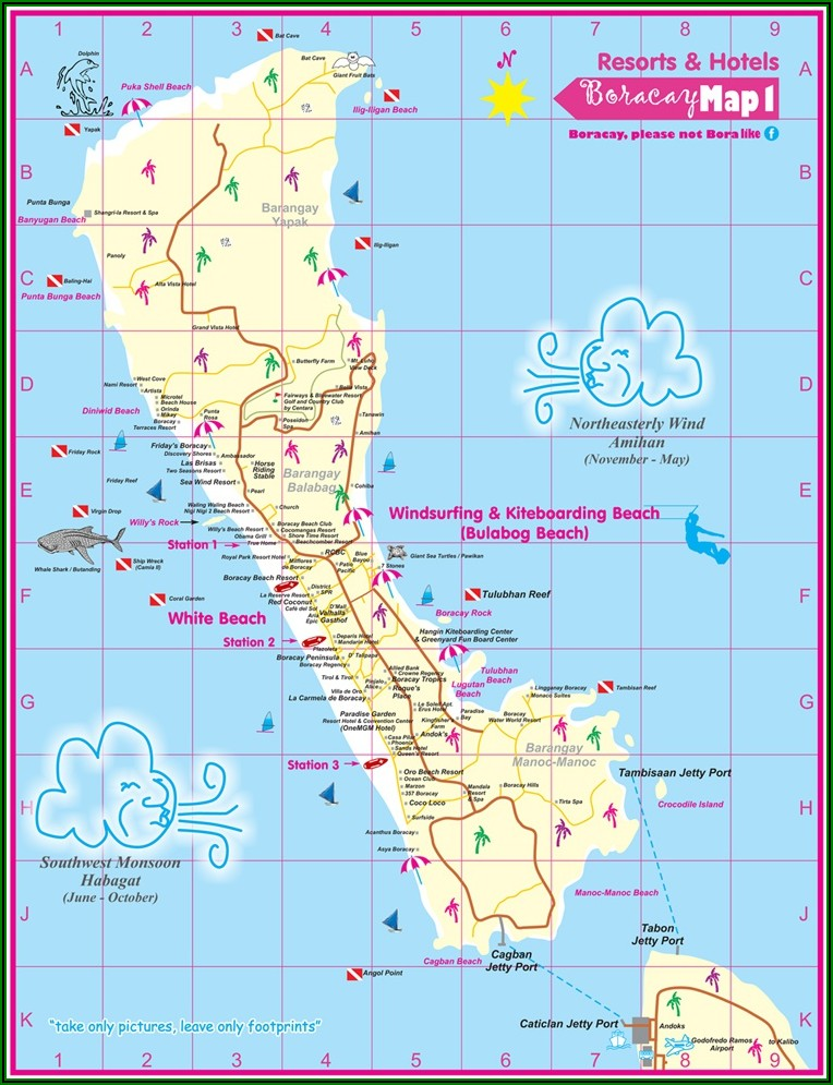 Map Of Boracay Hotels