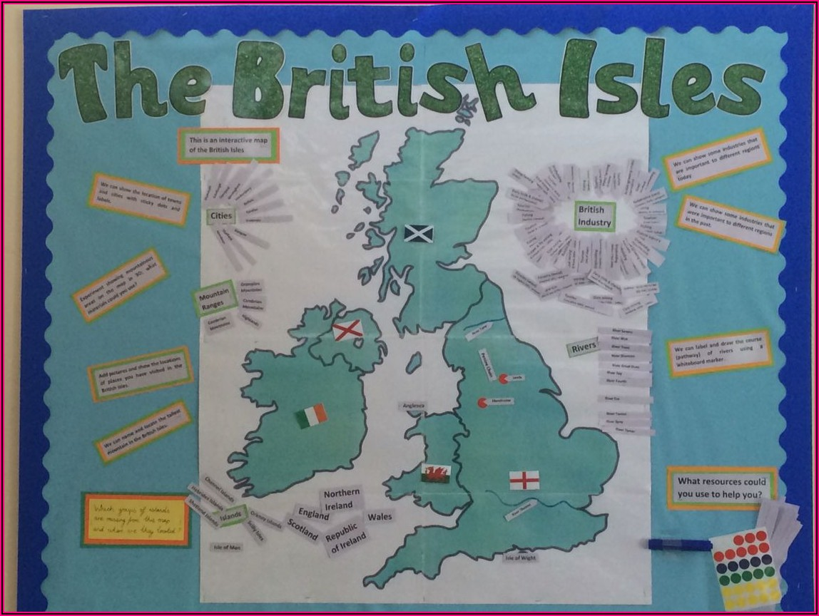 Map Of British Isles Outline