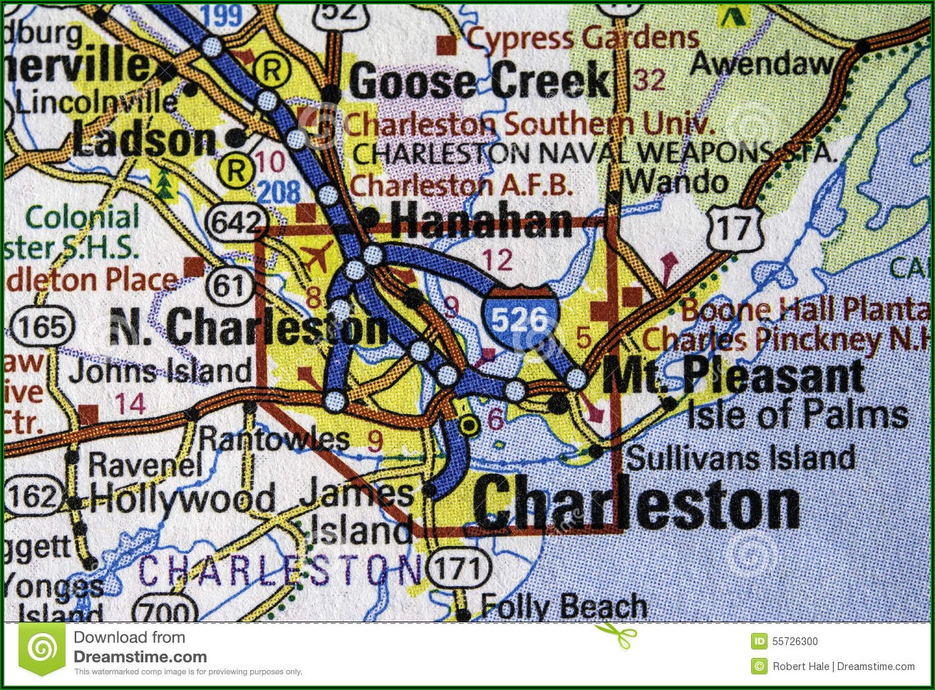 Map Of Charleston Sc And Surrounding Towns