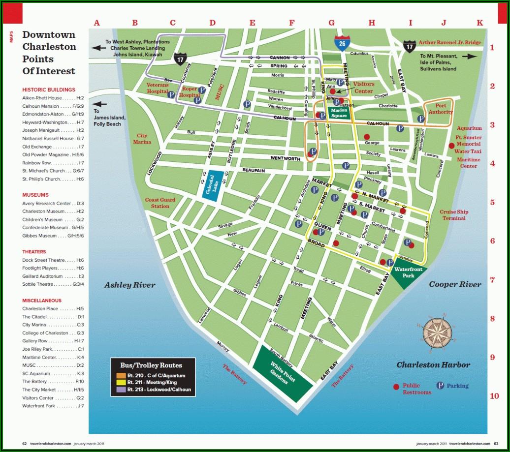 Map Of Charleston Sc Beaches