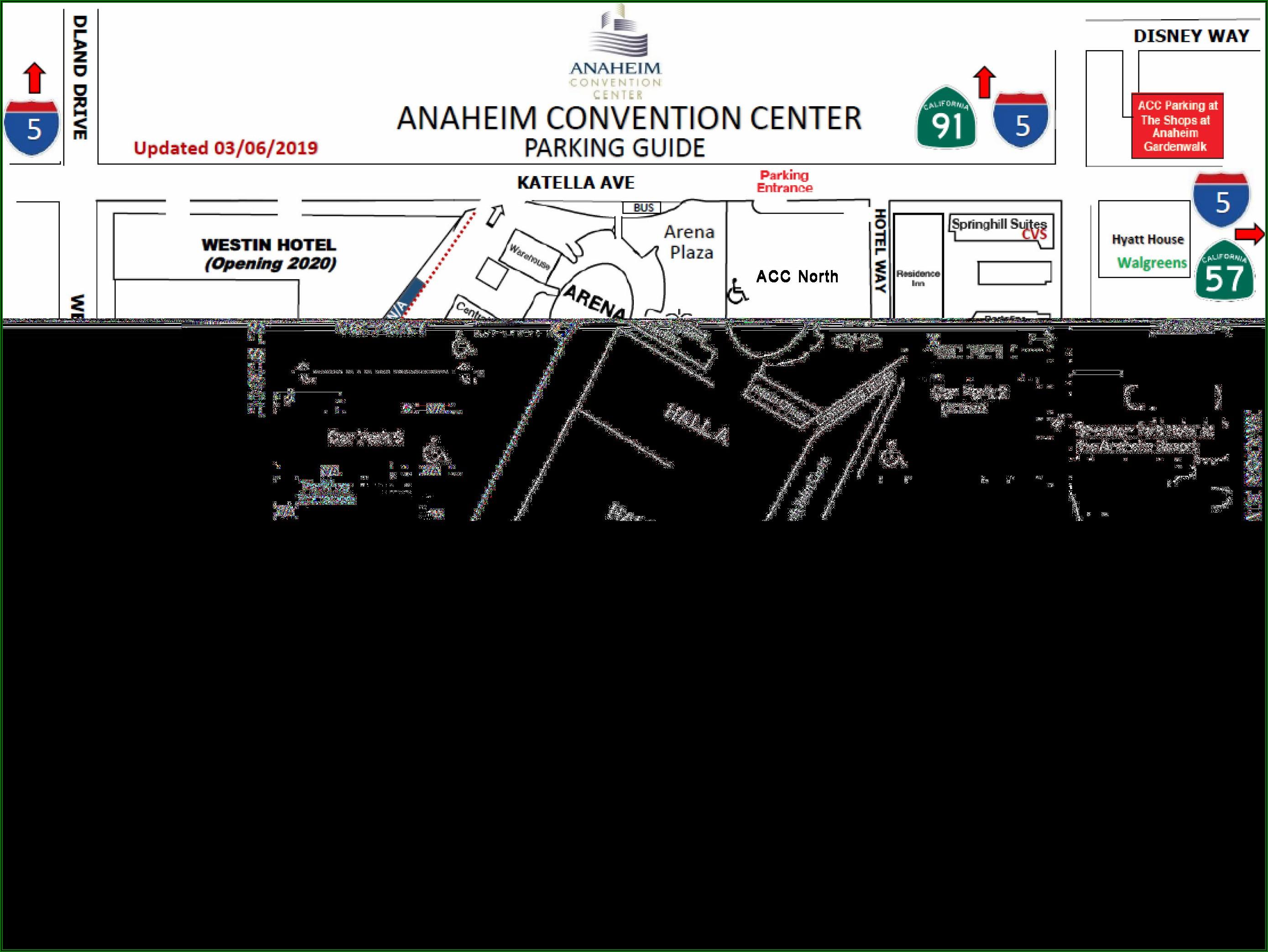 Map Of Hotels Around Anaheim Convention Center