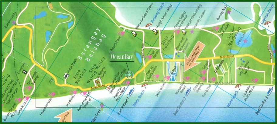 Map Of Hotels Boracay Station 2