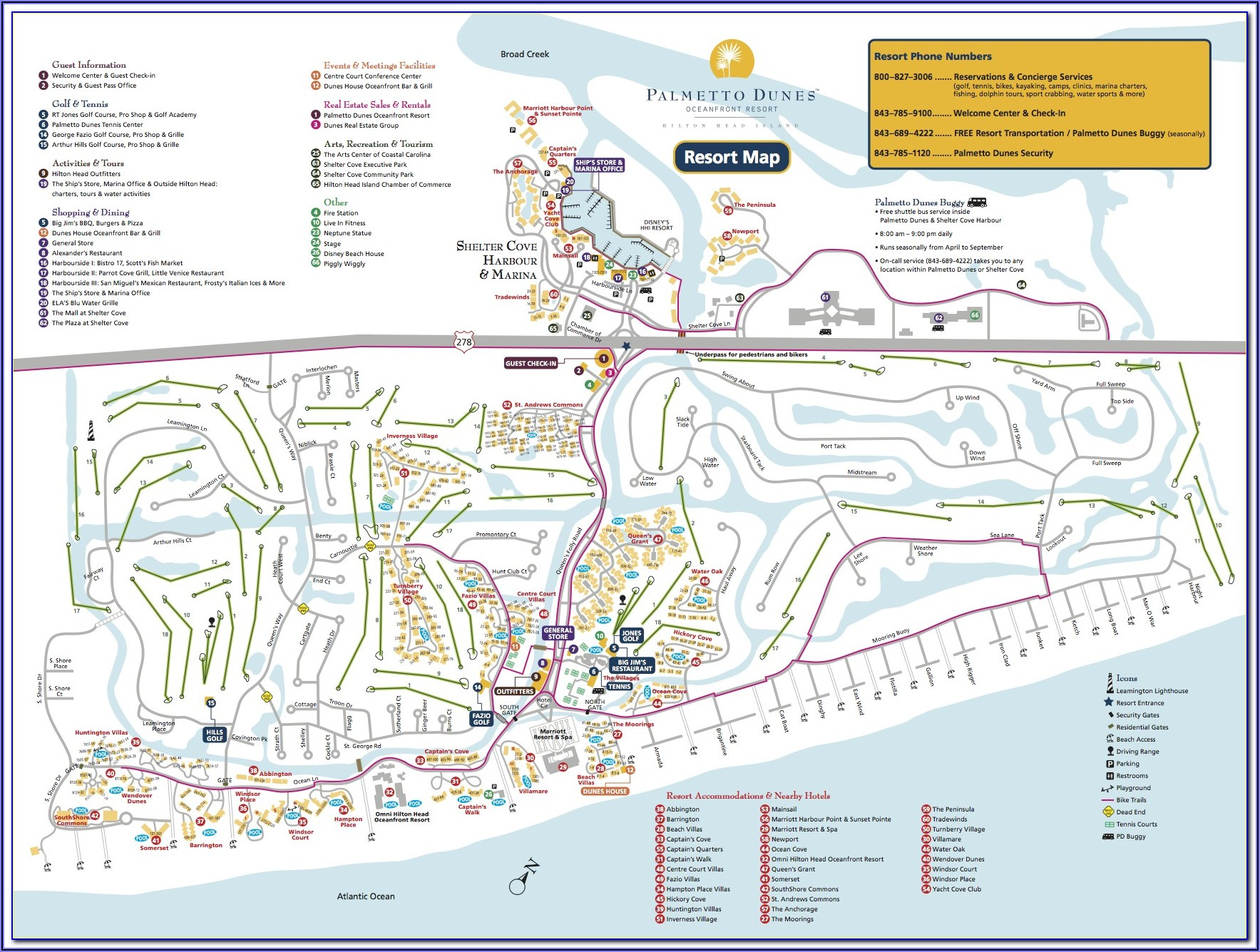 Map Of Hotels Hilton Head Island Sc