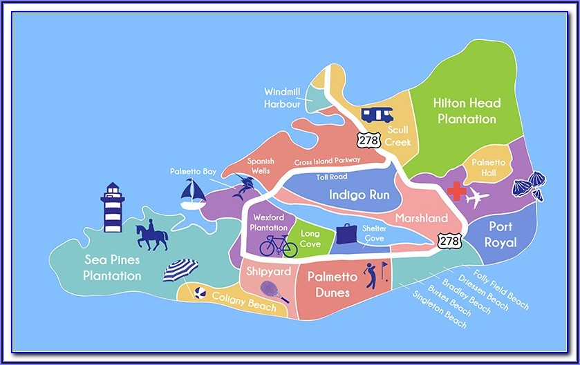 Map Of Hotels Hilton Head Sc