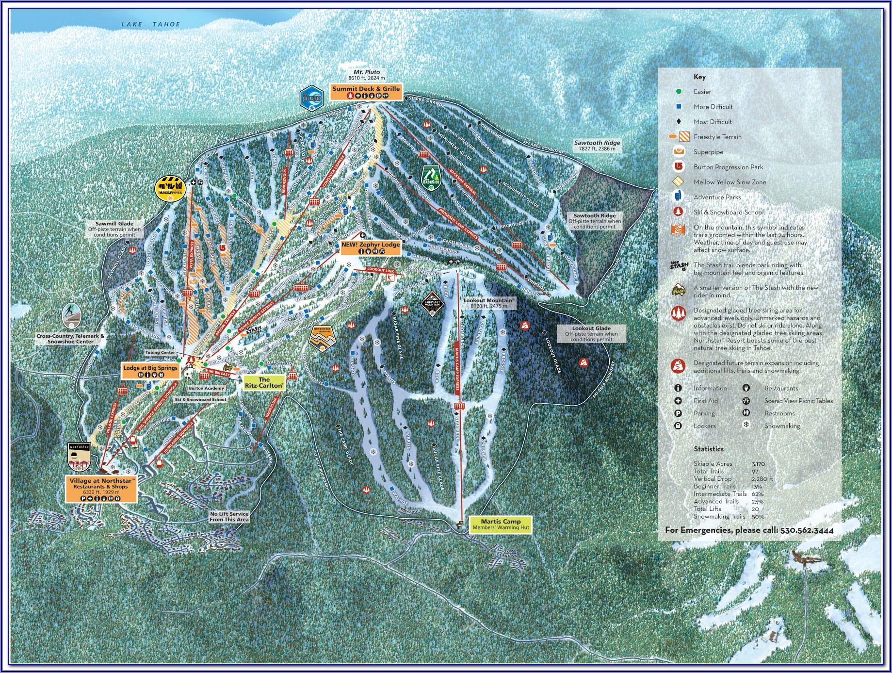 Map Of Hotels In Whistler