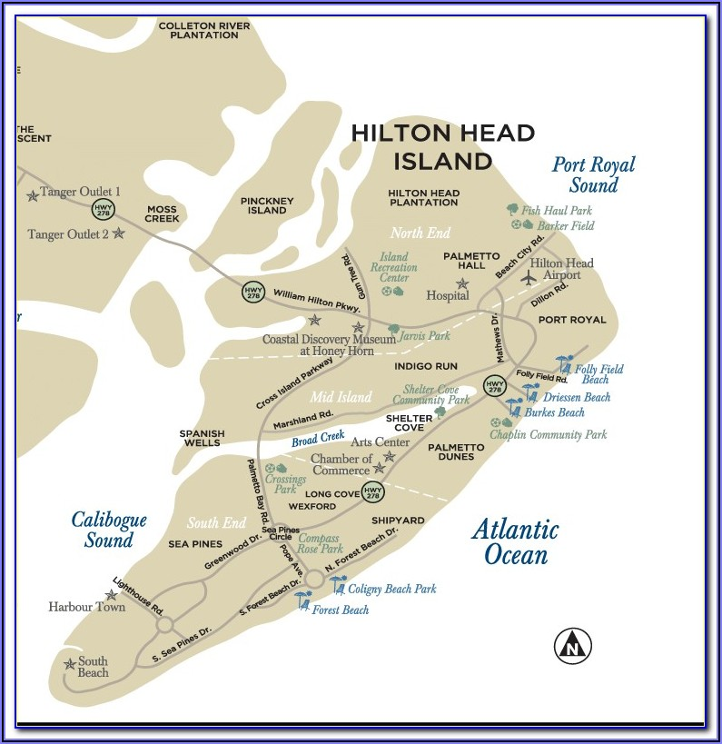 Map Of Hotels On Hilton Head Island