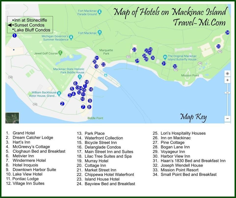 Map Of Mackinac Island Hotels
